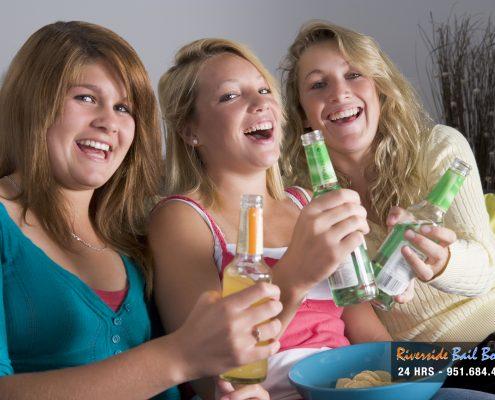 Teenage Girls Enjoying Drinks
